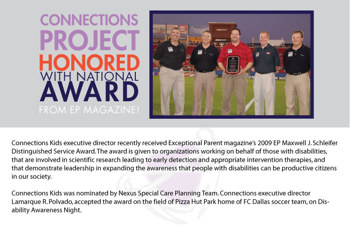 Connections Project Recieves Maxwell J Schliefler award from EP magazine